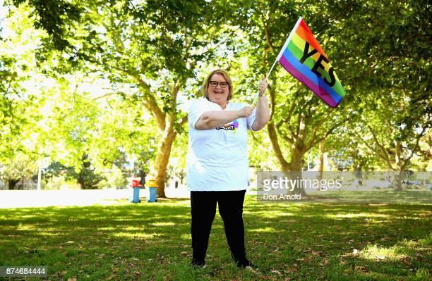 Magda Szubanski poses prior to the result announcement on November 15 2017 in Sydney Australia Australians have voted for marriage laws to be changed...