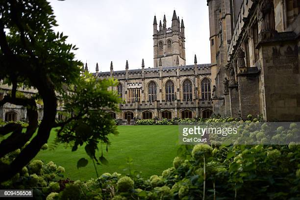 Magdalen College is pictured on September 20 2016 in Oxford England Oxford University has taken number one position in the 20162017 world university...