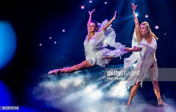Magdalena Brzeska and daughter Noemi Peschel perform during the first live show of 'Deutschland tanzt' on November 12, 2016 in Munich, Germany. In...
