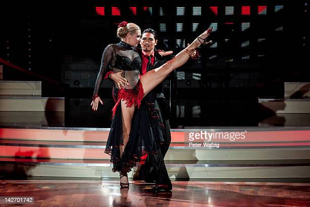 Magdalena Brzeska and Erich Klann perform during 'Let's Dance' 5th Show at Coloneum on April 11, 2012 in Cologne, Germany.