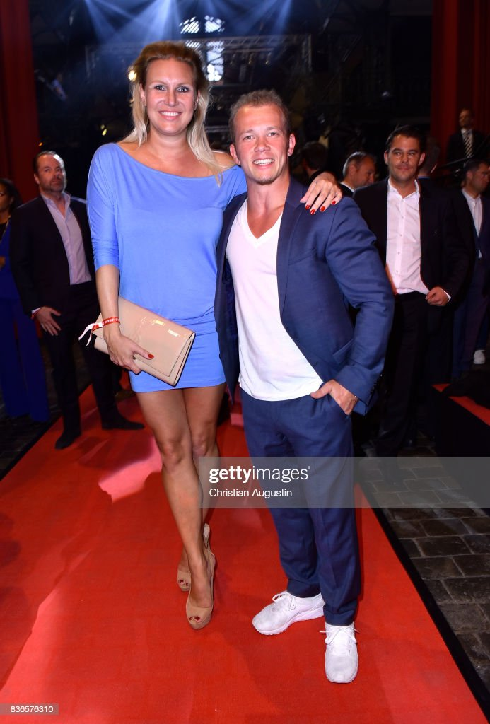 Magdalena Brzeska and Fabian Hambuechen attend the Sport Bild Award at the Fischauktionshalle on August 21, 2017 in Hamburg, Germany.