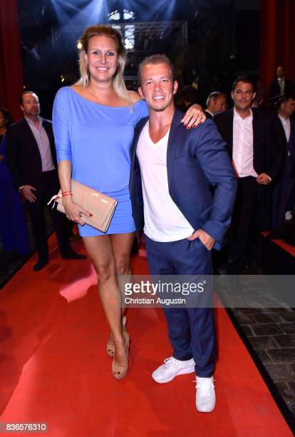 Magdalena Brzeska and Fabian Hambuechen attend the Sport Bild Award at the Fischauktionshalle on August 21 2017 in Hamburg Germany