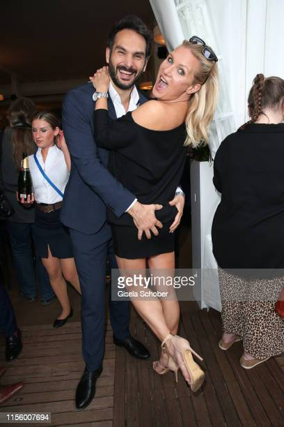 Magdalena Brzeska and her boyfriend Roland Klein during the CHIO 2019 Media Night on July 16, 2019 in Aachen, Germany.
