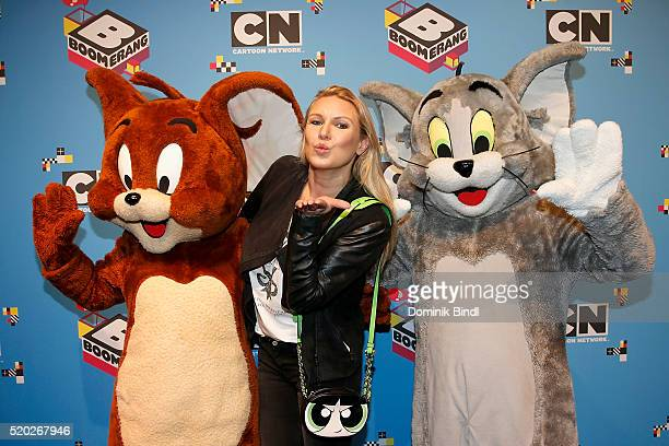 Magdalena Brzeska attends the Family Friends Fun Day by kids TV channels Cartoon Network and Boomerang at TonHalle on April 10th in Munich Germany
