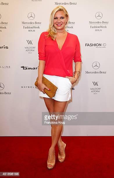 Magdalena Brzeska attends the Minx by Eva Lutz show during the MercedesBenz Fashion Week Spring/Summer 2015 at Erika Hess Eisstadion on July 9 2014...