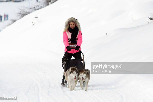 Magdalena Brzeska attends the Tirol Cross Mountain Sledge Dog Race at Kuehtai Castle on December 08 in Kuehtai, Austria.
