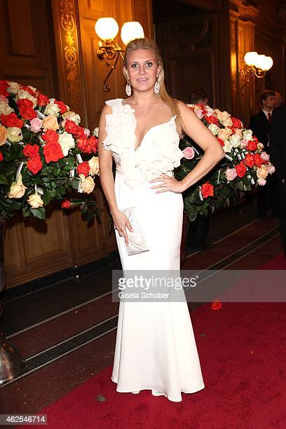 Magdalena Brzeska during the Semper Opera Ball 2015 at Semperoper on January 30 2015 in Dresden Germany