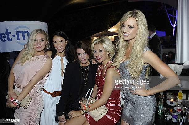 Magdalena Brzeska, Joana Danciu, Miriam Rehbein, Verena Kerth and Rosanna Davison attend the Movie Meets Media Party during the Munich Film Festival...