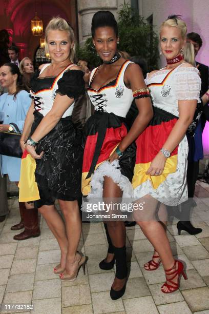 Magdalena Brzeska Marie Amière and Lilian Thau attend the Women's World Cup Night as part of the Digital Life Design women conference at Bavarian...