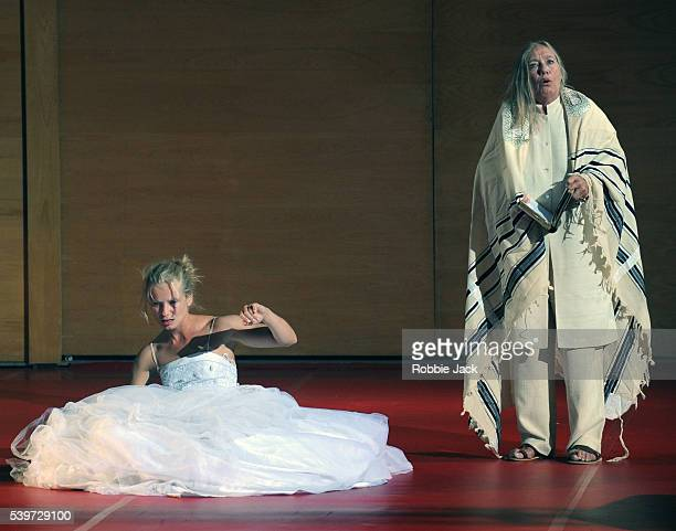 "Magdalena Cielecka and Maja Komorowska perform in the TR Warszawa Theatre's production ""Dybbuk"" at the King's Theatre in Edinburgh."