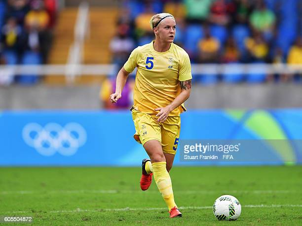 Magdalena Ericsson of Sweden in action during the Olympic Womens Football match between Sweden and South Africa during the at Olympic Stadium on...