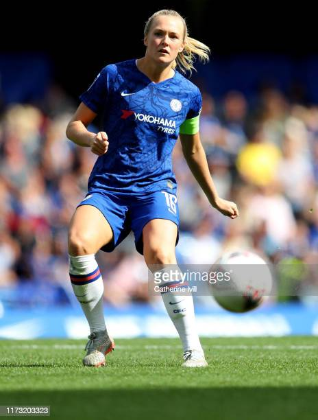 Magdalena Eriksson of Chelsea during the Barclays FA Women's Super League match between Chelsea and Tottenham Hotspur at Stamford Bridge on September...