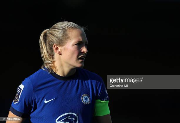 Magdalena Eriksson of Chelsea during the Barclays FA Women's Super League match between Chelsea Women and Manchester City Women at Kingsmeadow on...