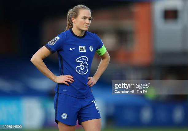 Magdalena Eriksson of Chelsea during the Barclays FA Women's Super League match between Chelsea Women and Manchester United Women at Kingsmeadow on...