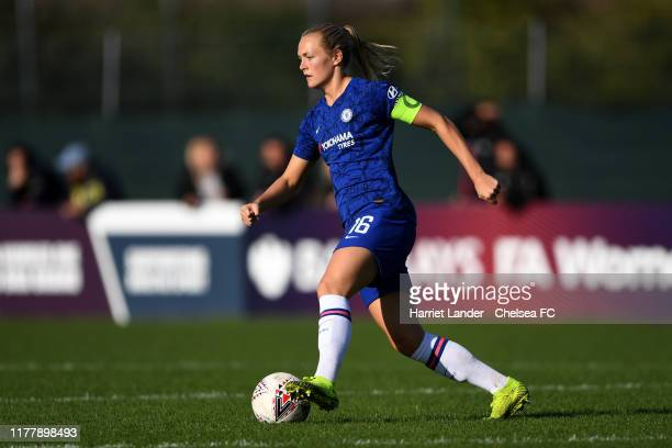 Magdalena Eriksson of Chelsea runs with the ball during the Barclays FA Women's Super League match between Bristol City and Chelsea at Stoke Gifford...