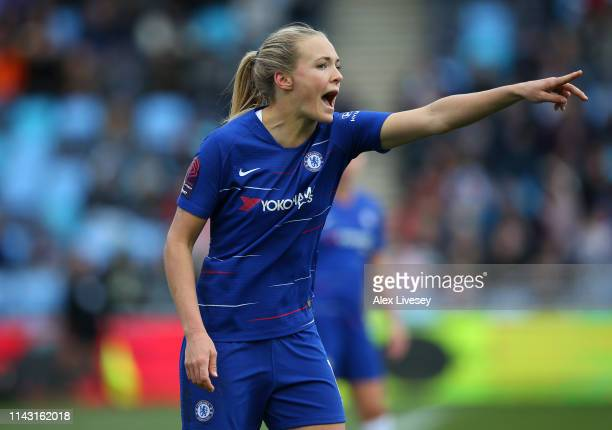 Magdalena Eriksson of Chelsea Women during the Women's FA Cup Semi Final match between Manchester City Women and Chelsea Ladies at The Academy...