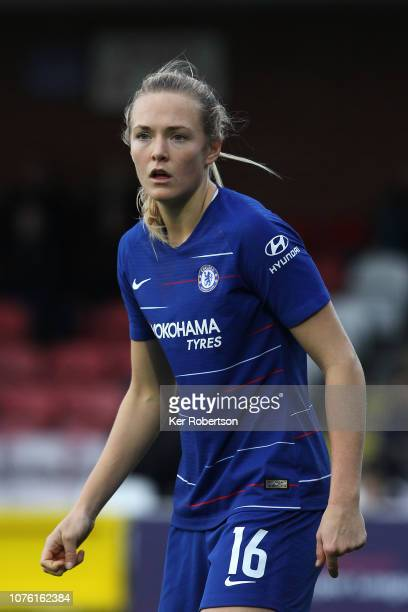 Magdalena Eriksson of Chelsea Women in action during the FA Women's Super League match between Chelsea and Reading at The Cherry Red Records Stadium...