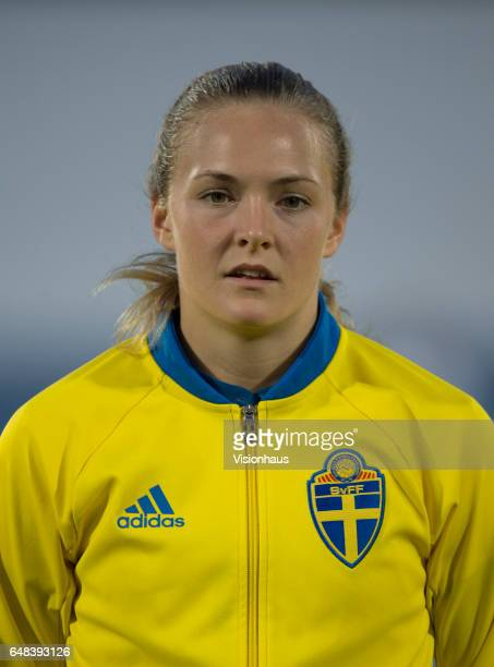 Magdalena Eriksson of Sweden during the Group C 2017 Algarve Cup match between China Women and Sweden Women at the Vila Real de Santo Antonio Sports...