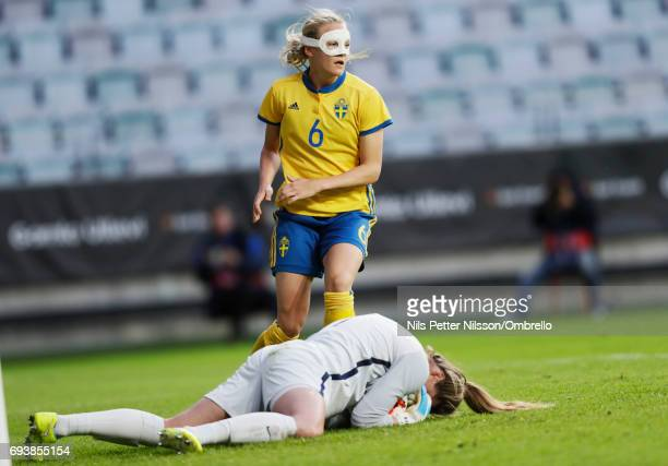Magdalena Eriksson of Sweden during the international friendly between Sweden and USA at Ullevi Stadium on June 8 2017 in Gothenburg Sweden