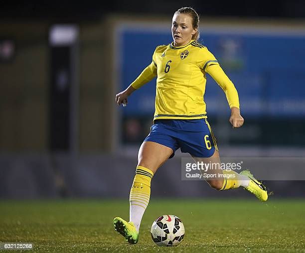 Magdalena Eriksson of Sweden in action during the international friendly match between Norway Women and Sweden Women at La Manga Club on January 19...