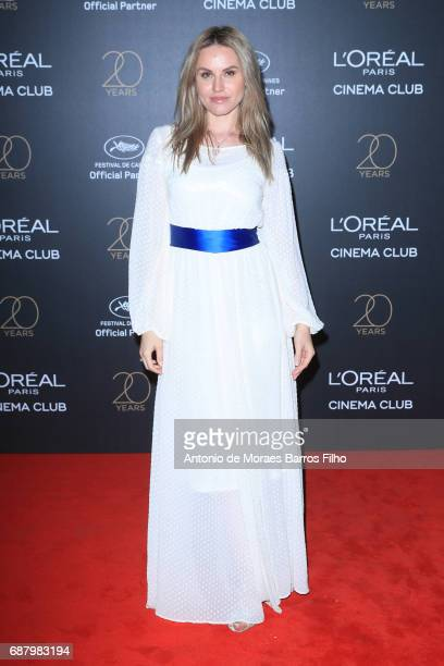 Magdalena Gabriel attends the Gala 20th Birthday Of L'Oreal In Cannes during the 70th annual Cannes Film Festival at Hotel Martinez on May 24 2017 in...