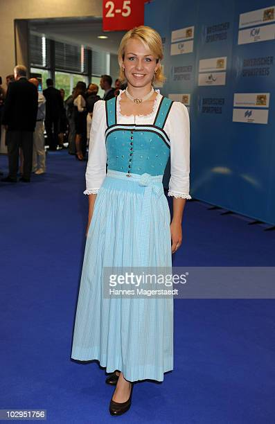 Magdalena Neuner attend the Bavarian Sport Award 2010 at the International Congress Center Munich on July 17 2010 in Munich Germany