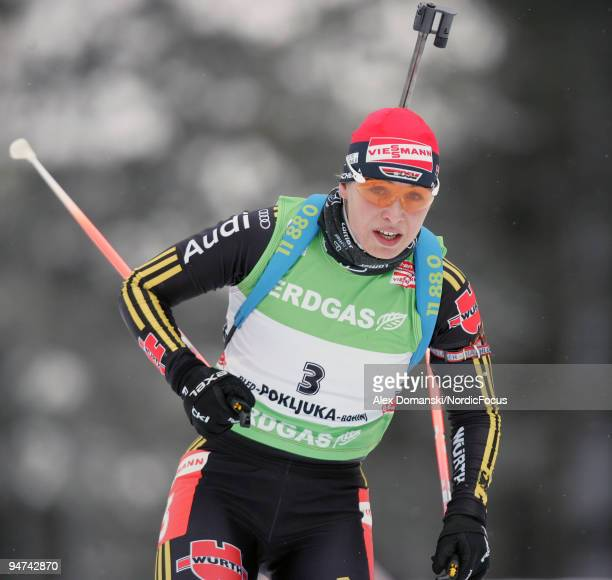 Magdalena Neuner of Germany competes during the Women's 15km Individual in the eon Ruhrgas IBU Biathlon World Cup on December 17 2009 in Pokljuka...