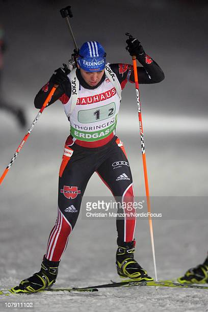 Magdalena Neuner of Germany competes in the women's relay during the e.on IBU Biathlon World Cup on January 06, 2011 in Oberhof, Germany.
