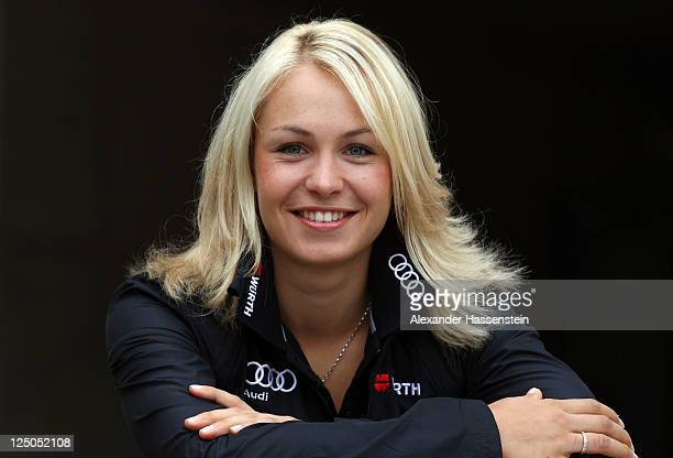 Magdalena Neuner of team Germany poses during the Biathlon mediaday at Chiemgau Arena in Ruhpolding on September 15, 2011 in Ruhpolding, Germany.