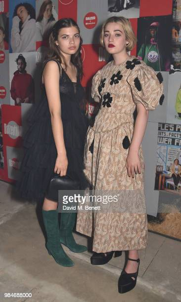 Magdalene Fores and Julia CampbellGillies attend Dazed 100 presented by Dazed and YouTube Music at St Giles House on June 26 2018 in London England