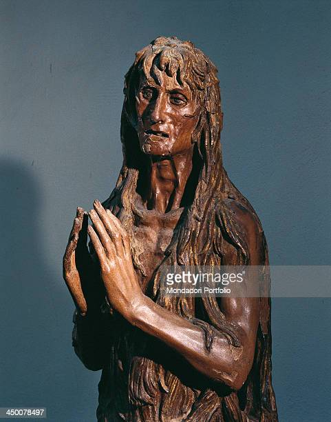 Magdalene Penitent by Donato di Niccolò di Betto Bardi known as Donatello 1453 1455 15th Century carved gilded and painted wood 188 cm