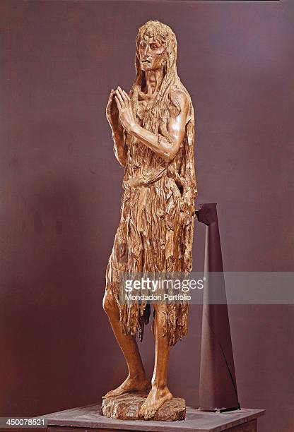 Magdalene Penitent by Donato di Niccolò di Betto Bardi konwn as Donatello 1453 1455 15th Century carved gilded and painted wood 188 cm