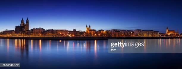 Magdeburg skyline panorama (Saxony-Anhalt, Germany)