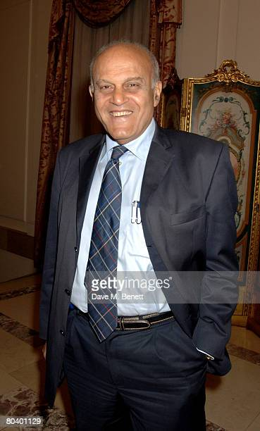 Magdi Yacoub attends the book launch of Rowan Somerville's latest book The End of Sleep at the Egyptian Embassy on March 27 2008 in London England