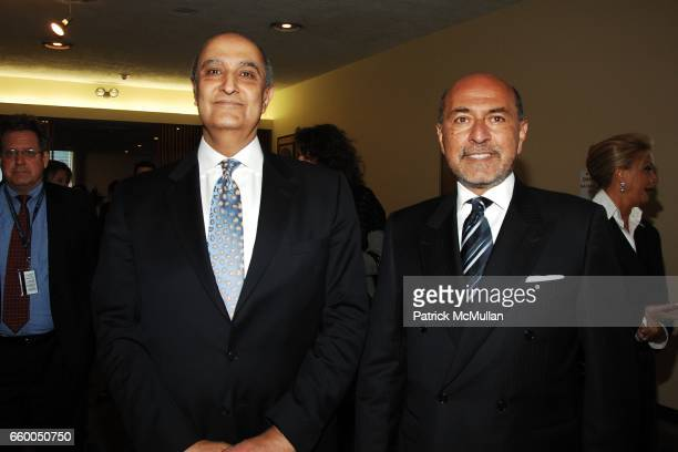 Maged Abdelaziz and Shafik Gabr attend WELCOME TO GULU EXHIBITION AND BENEFIT ART SALE ANTIHUMAN TRAFFICKING INNITIATIVE at The United Nations on May...