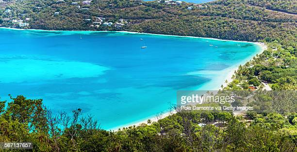 magens bay a beautiful beach in st thomas, usvi - magens bay stock photos and pictures
