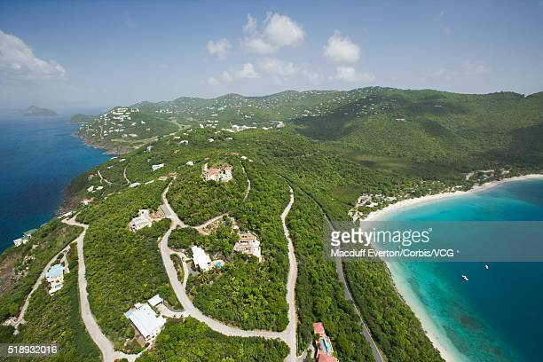 magens bay at st. thomas in u.s. virgin islands - magens bay stock photos and pictures