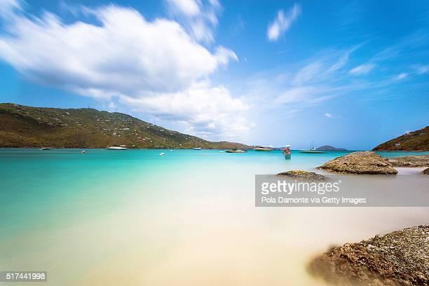 magens bay beach at saint thomas, us virgin islands - magens bay stock photos and pictures