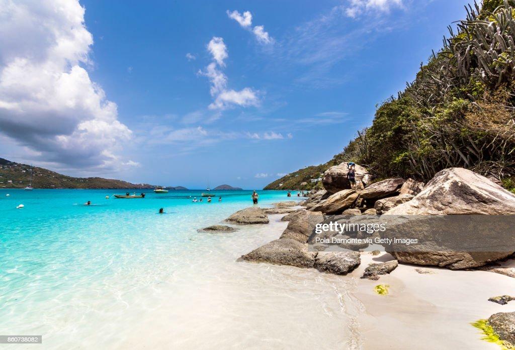 Magens Bay beach at Saint Thomas, US Virgin Islands : Stock Photo