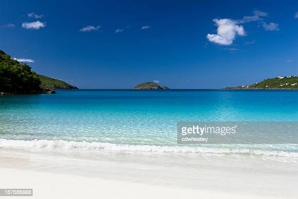 magens bay beach in stt thomas, us virgin islands - magens bay stock photos and pictures