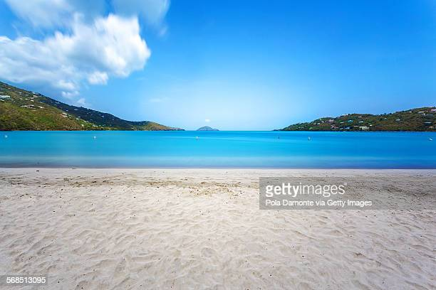 magens bay beach, st thomas, us virgin islands - magens bay stock photos and pictures
