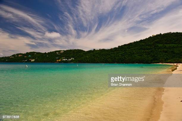 magens bay clouds - magens bay stock photos and pictures