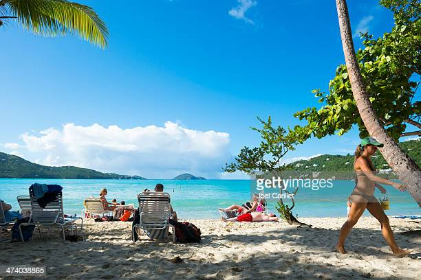 magens bay on st. thomas, virgin islands - magens bay stock photos and pictures