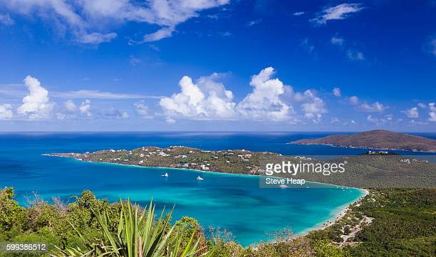 magens bay on the caribbean island of st thomas in the us virgin islands, usa - magens bay stock photos and pictures
