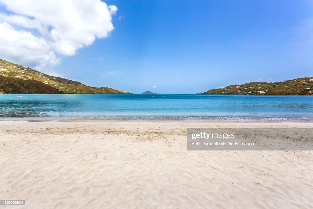 Magens Bay Tropical Beach With No People At Saint Thomas