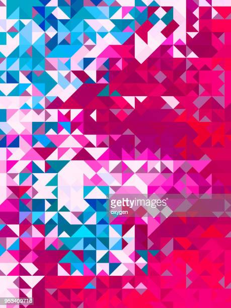 Magenta and blue triangular abstract background