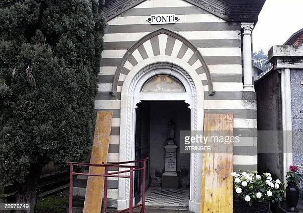 Ponti's family's funeral Chapel were Carlo Ponti will be buried tomorrow the chapel photographed 11 January 2007 is in the cemetery of Magenta a...