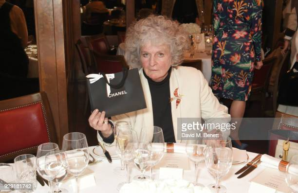 Maggi Hambling attends the Harper's Bazaar lunch to celebrate International Women's Day at 34 Mayfair on March 8 2018 in London England