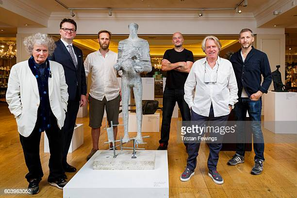 Maggi Hambling Fortnum's CEO Ewan Venters Stuart Pearson Wright Jake Chapman Frank Cohen and Charming Baker attend the launch of Fortnum's X Frank at...