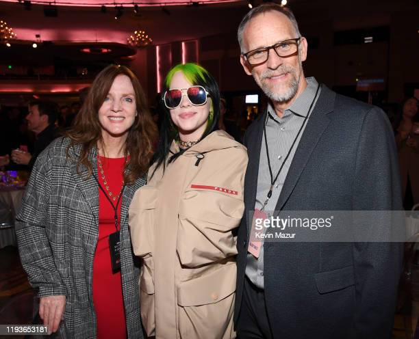 Maggie Baird Billie Eilish and Patrick O'Connell attend Billboard Women In Music 2019 presented by YouTube Music on December 12 2019 in Los Angeles...